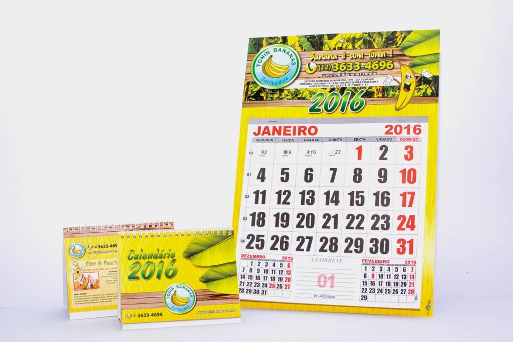 brindes calendário de mesa e parede - gráfica offset